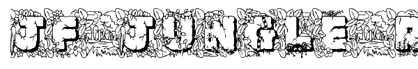 JF Jungle Rock font preview