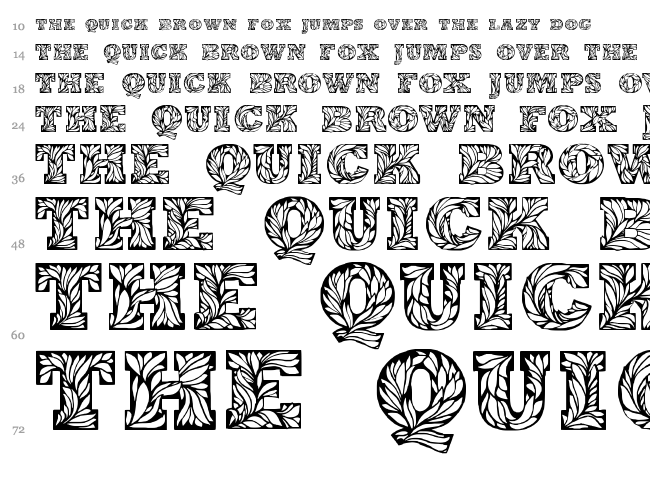Leaffy font waterfall