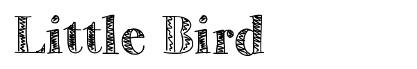 Little Bird font preview