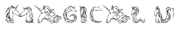 Magical Unicorn font preview