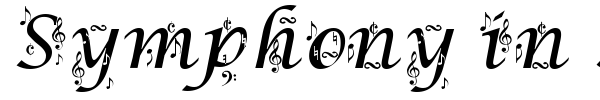 Symphony in ABC font preview