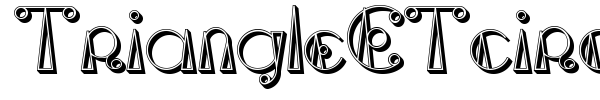 TriangleETcircle Shadow font
