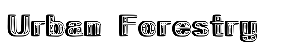 Urban Forestry font