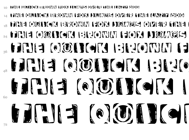 Woodcutted Caps font waterfall