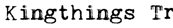 Kingthings Trypewriter font