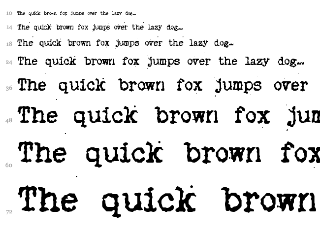 My Old Remington font waterfall