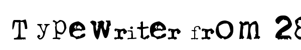 Typewriter from 286 font