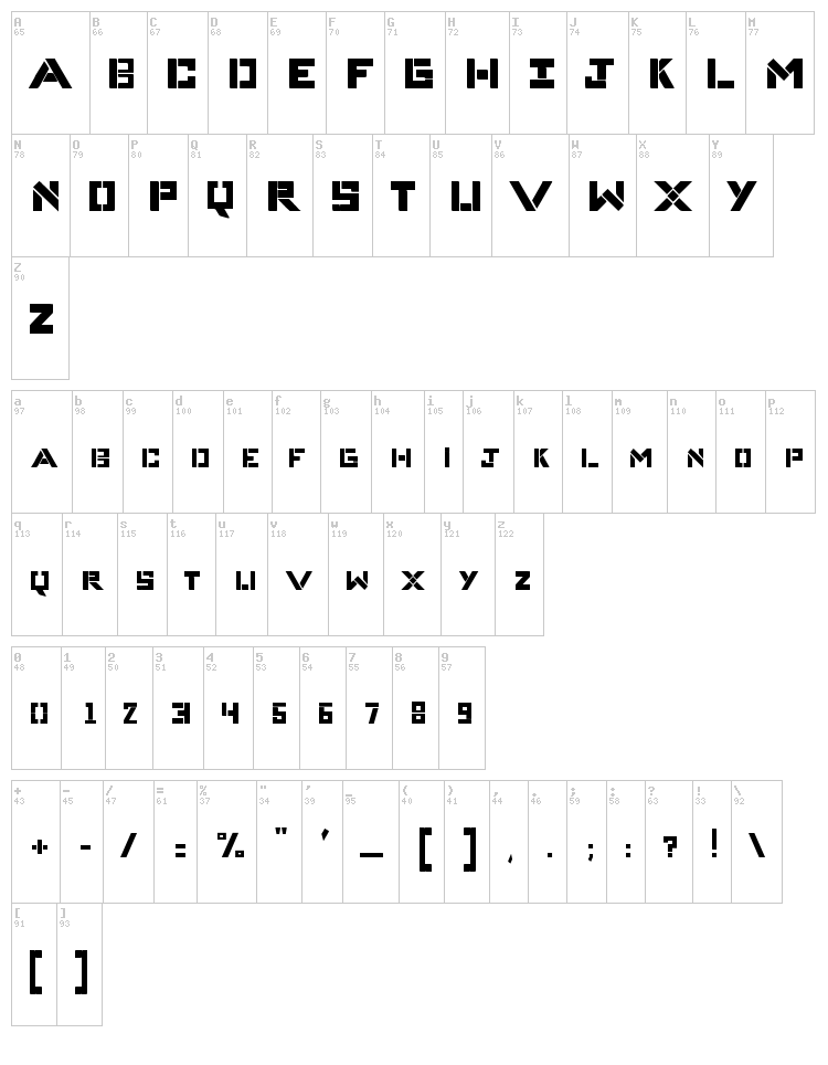Complices 007 font map