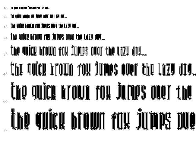 Andiron Outline font waterfall