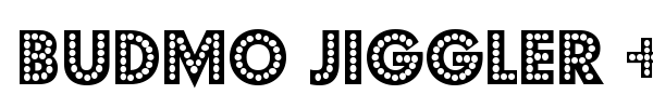 Budmo Jiggler + Jigglish font preview