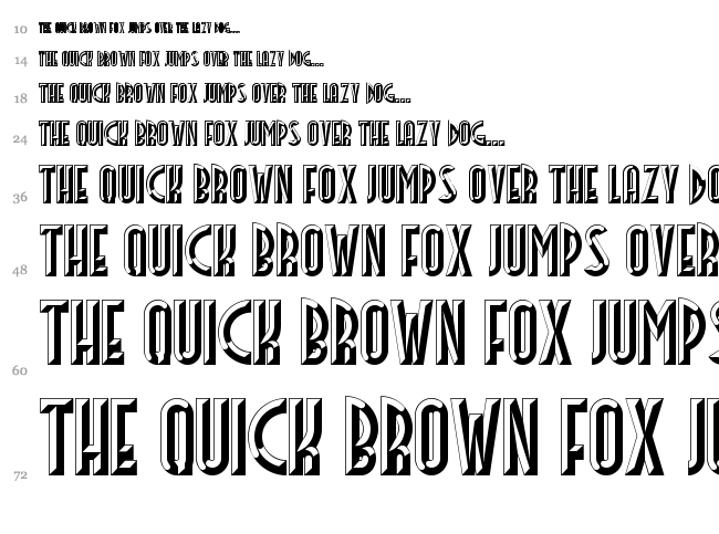 Facets NF font waterfall