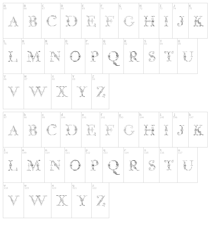 Jaggard Two font map