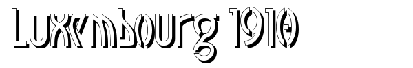 Luxembourg 1910 font