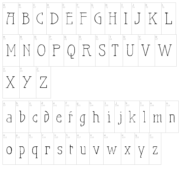 Maiers Nr.21 Pro font map