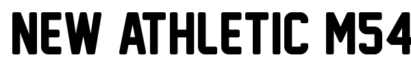 New Athletic M54 font preview