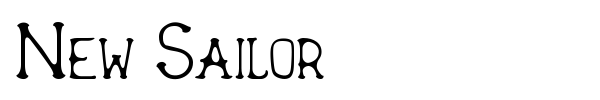 New Sailor font preview