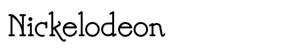 Nickelodeon font preview