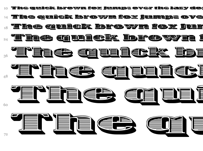 One Dance font waterfall