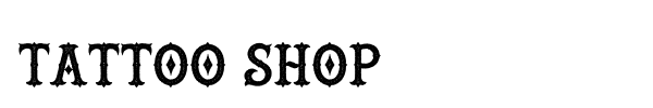 Tattoo Shop font