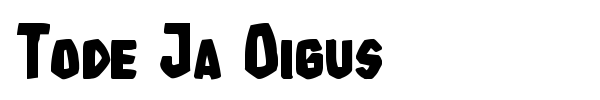 Tode Ja Oigus font preview