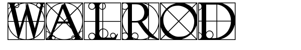 Walrod font preview