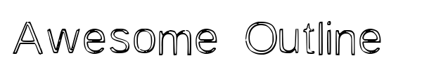 Awesome Outline font preview