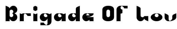 Brigade Of Love font