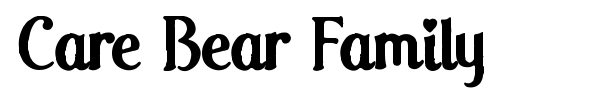 Care Bear Family font