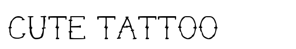 Cute Tattoo font