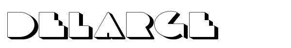 DeLarge font preview