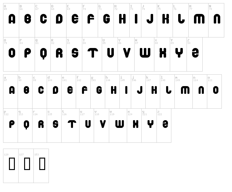 Drowing Monkey font map