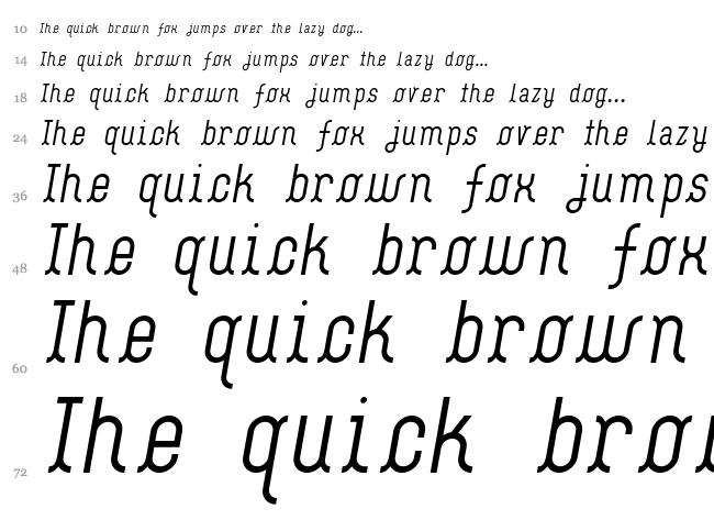 Flash Boy font waterfall