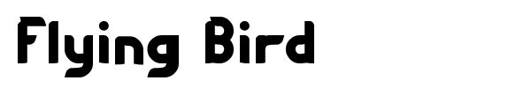 Flying Bird font