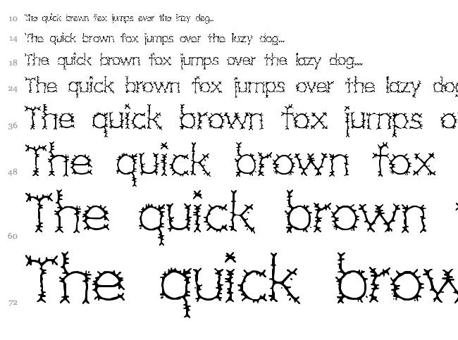 Grotesque BRK font waterfall