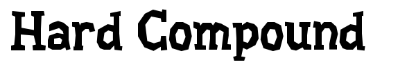 Hard Compound font preview