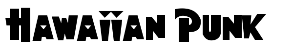 Hawaiian Punk font preview