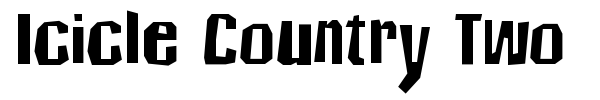 Icicle Country Two font