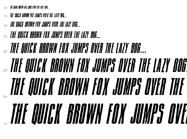 Jam Pact font waterfall