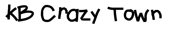 KB Crazy Town font preview