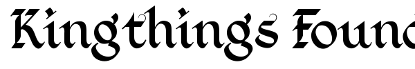 Kingthings Foundation font