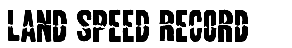 Land Speed Record font