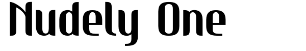 Nudely One font
