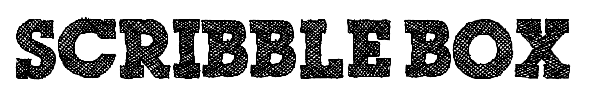 Scribble Box font preview