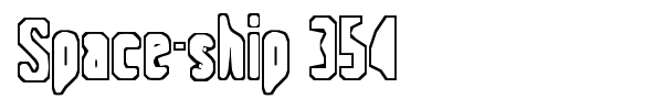 Space-ship 354 font
