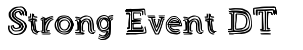 Strong Event DT font