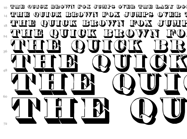 Thorne Shaded font waterfall