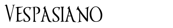 Vespasiano font preview