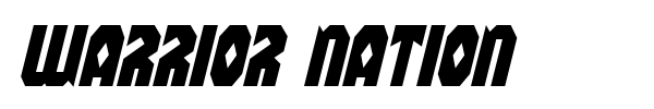 Warrior Nation font preview