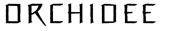 Orchidee font