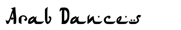 Arab Dances font